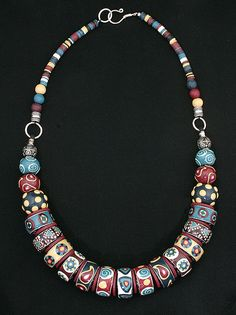 Contemporary Tribal Bohemian Necklace by DorothySiemens