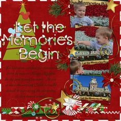 Disney scrapbook layout, Let the memories begin