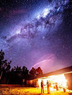 Starry night wedding photograph