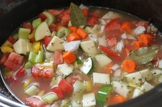 Slow cooker Greek chicken soup