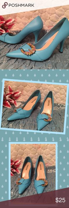 Coup D'ETAT LTD blue 👠 with Rhinestone buckles Gorgeous pair of new shoes. No box Shoes Heels