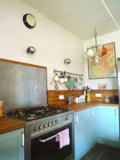 simple and rustic. something tells me this is a kitchen that is used!