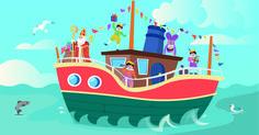 De stoomboot van Sinterklaas, illustratie door Jasmijn Solange Evans Evans, Education, Outdoor Decor, Kids, Design, Young Children, Boys, Children
