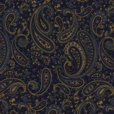 Paisley Navy Flannel