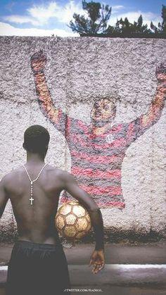 Quem não sonhou em ser um jogador de futebol? #VamosFlamengo