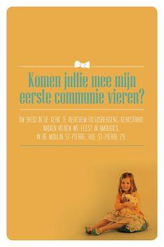 Bika, van concept tot beestig ontwerp!: Bika en uitnodiging eerste communie Jolien