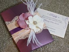 Romantic Wedding Invitations  Plum and Blush  by peachykeenevents, $9.75