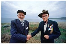 The last Australian and Turkish soldiers of the Gallipoli campaign shake hands where they once would have tried to kill each other.