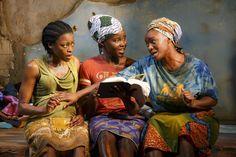 'ECLIPSED': (Left to right). Pascale Armand, Lupita Nyong'o & Saycon Sengbloh. Photo: Joan Marcus