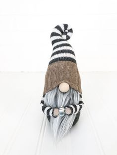 Would be adorable added to any tiered coffee tray! Scandinavian Christmas Decorations, Scandinavian Gnomes, Fabric Yarn, Fabric Dolls, Christmas Gnome, Christmas Crafts, Fall Crafts, Diy Crafts, Gnome 4
