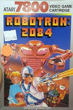 Robotron 2084 game cartridge for Atari 7800