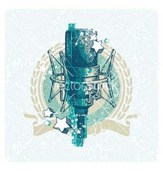 Hand drawn studio microphone vector 220310 - by sergo on VectorStock®