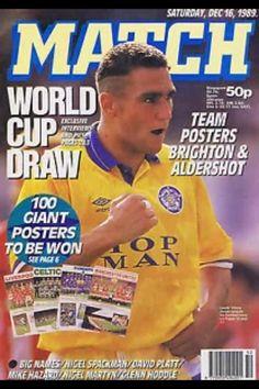 Leeds Uniteds Vinnie Jones in Match Magazine 1989/90!