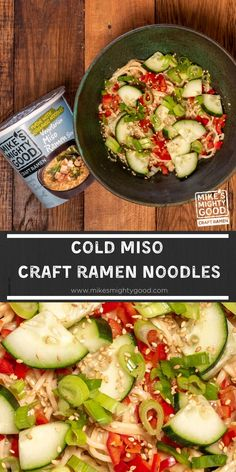 It's getting hot in here, so make some cold noodles! We're loving saucy noodle recipes, and wanted to make a cold one to keep us chill in these hot summer months. This one is vegetarian and vegan friendly so anyone can enjoy! Veggie Noodle Stir Fry, Vegetable Ramen, Veggie Noodles, Asian Noodles, Kimchi Ramen, Kimchi Noodles, Ramen Bowl, Garlic Fried Chicken