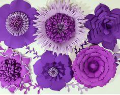 Fondo de flor de papel, flores de papel gigantes, centro de mesa de boda, papel flores, Telón de fondo de boda