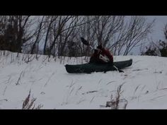 Snow Kayaking in Northern Michigan - YouTube