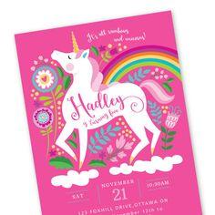 Unicorn birthday invitation printable customized diy girls unicorn birthday invitation printable customized by crazyfoxpaper filmwisefo