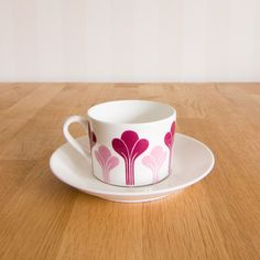 Gustavsberg Krokus tea cup and saucer by Margareta Hennix by KuriosaEurope on Etsy https://www.etsy.com/listing/228156382/gustavsberg-krokus-tea-cup-and-saucer-by