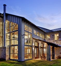 Love the exterior windows/urban style of mixing brick with metal/front porch. This is a luxury Veterinary/Boarding facility in Austin