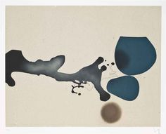 """thunderstruck9: """"Victor Pasmore (British, 1908-1998), Punto di Contatto 2, 1982. Etching and aquatint in colours, plate: 590 x 770 mm. """""""