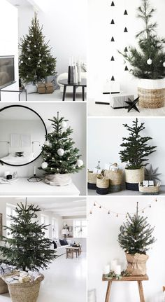 113 incredibly chic modern minimalist christmas trees - page 26 ~ Modern House D. 113 incredibly chic modern minimalist christmas trees - page 26 ~ Modern House Design Always wanted to discover how to k. Minimalist Christmas Tree, Small Christmas Trees, Christmas Home, Christmas Holidays, Black Christmas, Christmas Countdown, Hygge Christmas, Christmas Tree Basket, Scandi Christmas