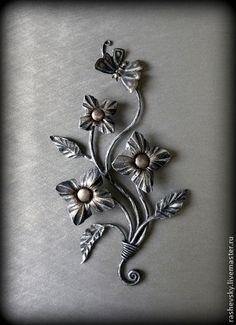 """Миниатюра """"Цветы"""" - авторская ручная работа,подарок,Ковка,кованые изделия"""