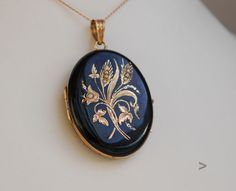 Antique Austrian Pendant Locket Silver Black Enamel Pearls #Locket
