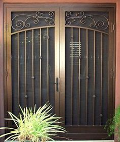 Security Screen Doors For Double Entry