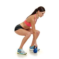 Shed stubborn pounds fast with this workout, including Alternating Kettlebell Cleans.