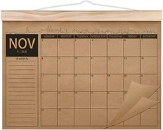 """Amazon.com : 2020-2022 Calendar - 18 Monthly Academic Desk or Wall Calendar Planner, Thick Kraft Paper Perfect for Organizing & Planning, November 2020 - April 2022, 12.2""""x16.5"""" - Norjews : Office Products"""