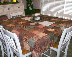homespun patchwork quilted pillow craft project