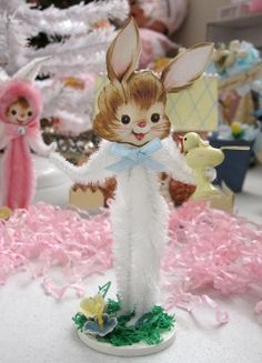 Easter Bunny Vintage Inspired Chenille Easter by saturdayfinds, $7.00