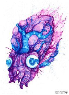 Cuttlefish Cuttlefish, Watercolours, Watercolor Tattoo, Wolf, Tattoos, Painting, Tatuajes, Tattoo, Painting Art