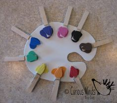 Color Sort Paint Palette Busy Bag   by CuriousMindsBusyBags, $6.00
