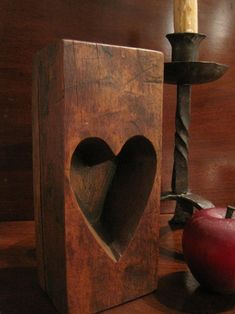 1800's New England Wooden Maple Sugar Mold