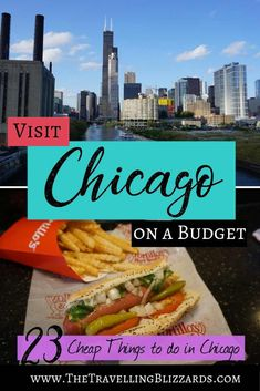 From Chicago deep dish pizza and hotdogs to architecture boat tours, staying on budget during a visit to Chicago is easy with this list of 23 cheap things to do in the city. Pin for when you're ready to plan your trip to Chicago! Visit Chicago, Chicago Usa, Chicago Travel, Travel Usa, Chicago Trip, Chicago Vacation, Chicago Bars, Chicago Skyline, Beach Travel