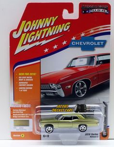 1:64 JOHNNY LIGHTNING 2016 MUSCLE CARS USA 1968 CHEVY IMPALA- Ash Gold Poly  #JohnnyLightning #Chevrolet