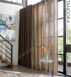 """Tandora light weave linen fabric in solid colors : standard size curtain panels in 84, 96 drapes, extra long 108 inch curtains, 120"""" inch ready-made draperies, scarf swag window top treatment or fabric by the bolt for custom treatments"""