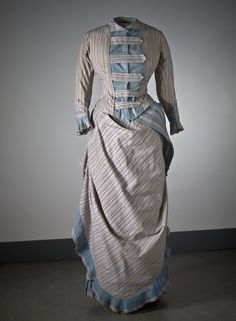 Day dress ca. 1880's  From the Nordiska Museet  front view