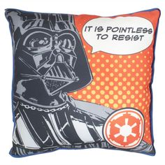 Disney Star Wars Force Darth Vader Reversible Canvas Square Cushion: Amazon.co.uk: Kitchen & Home