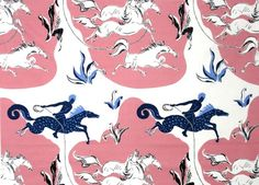 Au lasso, a reissued fabric from the Pierre Frey archives