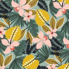 Blend - Maude Asbury - Leilani Collection - Hibiscus in Blue by Bobbie Lou's Fabric Factory