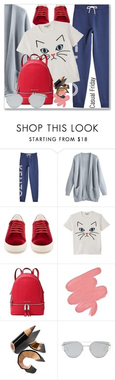 """Casual Friday"" by jan31 ❤ liked on Polyvore featuring Kenzo, Anya Hindmarch, Paul & Joe, MICHAEL Michael Kors, Obsessive Compulsive Cosmetics, Bobbi Brown Cosmetics, Gentle Monster, casualoutfit, CasualChic and casualfriday"