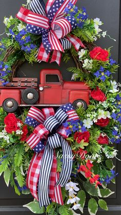Summer Door Wreaths, Holiday Wreaths, Mesh Wreaths, Holiday Crafts, Holiday Ideas, Fourth Of July Decor, 4th Of July Wreath, July 4th, Patriotic Wreath