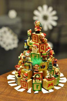 letter block christmas tree