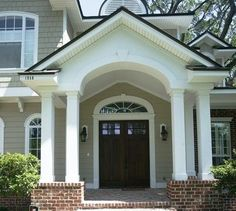Welcome your guests with this Non-Tapered Recessed Panel. Providing them a nice foreground to take in. We offer a large selection of this product up to 20 feet tall, with no visible seams once finished. Check out our website. Pvc Column Wraps, Column Covers, Porch Columns, Home And Garden, Exterior, Mansions, Website, Architecture, House Styles