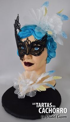 Carnival Cakers Collaboration by Las tartas del Cachorro by Daniel Casero Masquerade Cakes, Masquerade Wedding, Take The Cake, Love Cake, Burlesque Cake, Carnival Cakes, Sculpted Cakes, Princesa Disney, Sugar Art