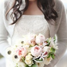 Chill in the air? Add a gorgeous cardigan to your wedding look like these beautiful brides! Hey, if Kate Middleton can do it...