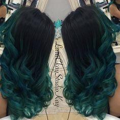 10 Amazing mermaid hair colour ideas – My hair and beauty Teal Hair, Green Hair, Ombre Hair, Love Hair, Gorgeous Hair, Beautiful, Hair Extensions Best, Natural Hair Styles, Long Hair Styles