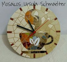 Enrich Your Room with an Oversize Clock Mosaic Birds, Mosaic Wall, Mosaic Crafts, Mosaic Projects, Large Wood Clock, Big Wall Clocks, Wall Watch, Modern Clock, Wall Crosses